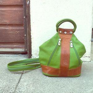 Lime Green Valentina Convertible Bag